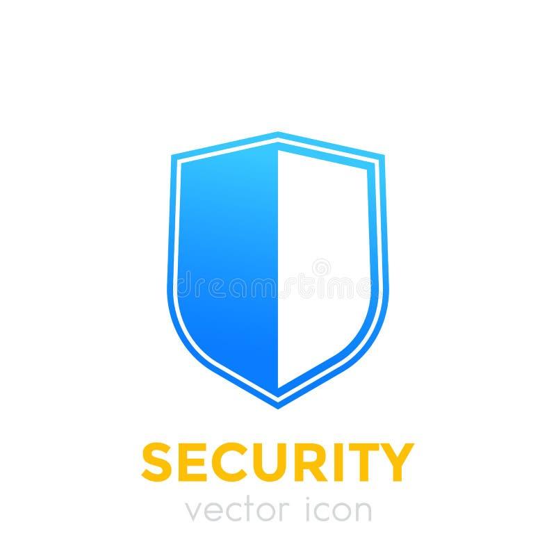 Säkerhetsbegrepp, sköldsymbol vektor illustrationer