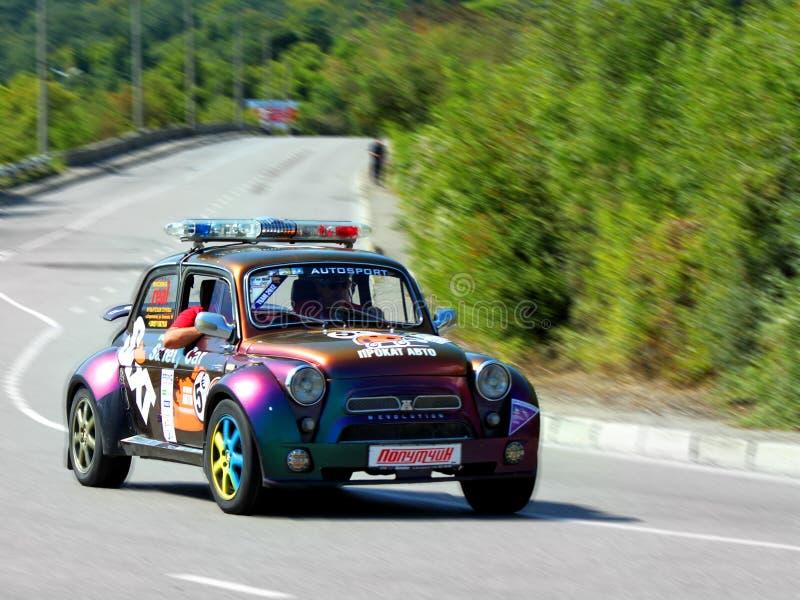 Säkerhetsbilen på IRC SATTA I GÅNG Yalta samlar 2012 fotografering för bildbyråer