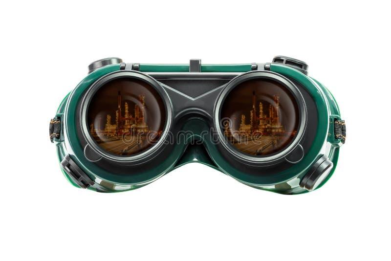 Säkerhetsexponeringsglas och industriellt reflekterar arkivbilder