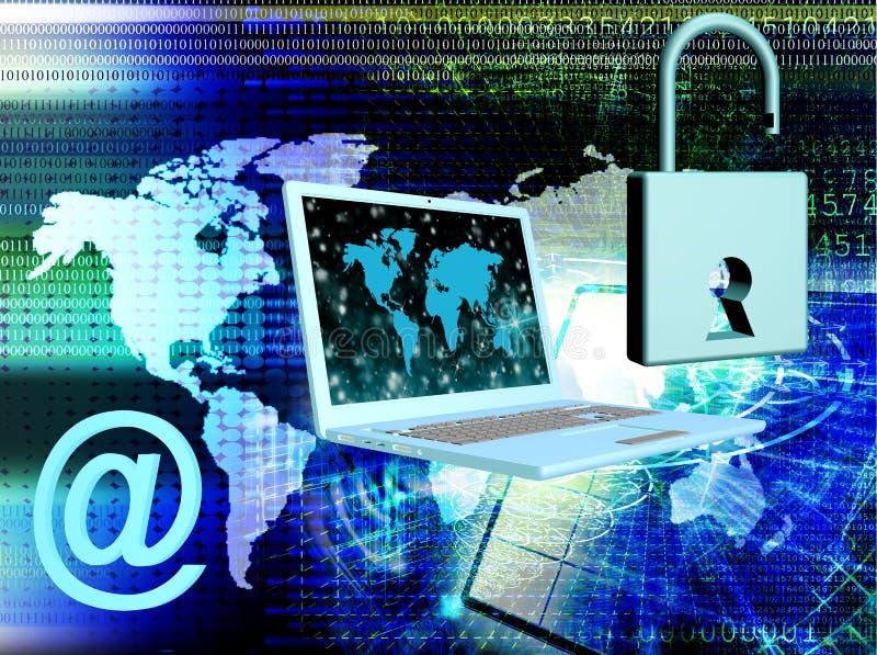 Säkerhetsinternetbegrepp fotografering för bildbyråer