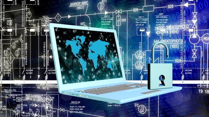 Säkerhetsinternetbegrepp arkivfoto