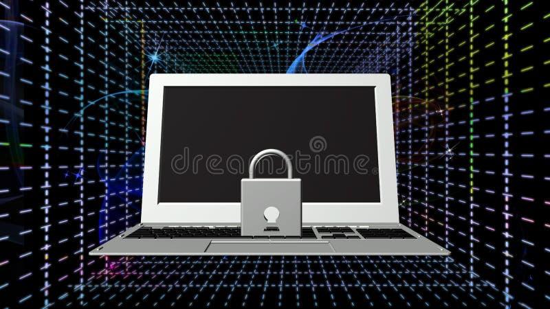 Säkerhetsinternetuppkopplingteknologier royaltyfri illustrationer
