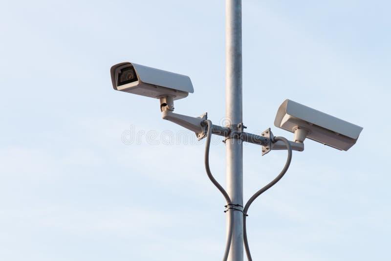 Säkerhetskamera eller CCTV arkivfoto