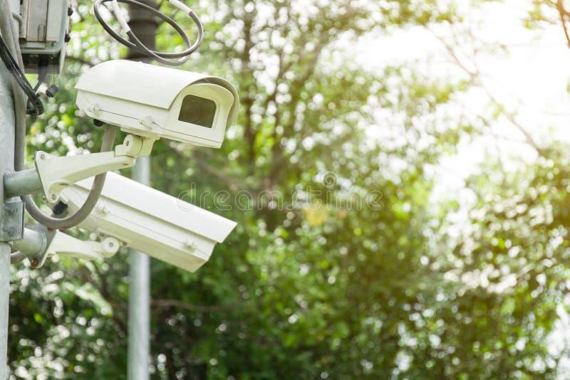 Säkerhetskamera eller CCTV royaltyfri foto