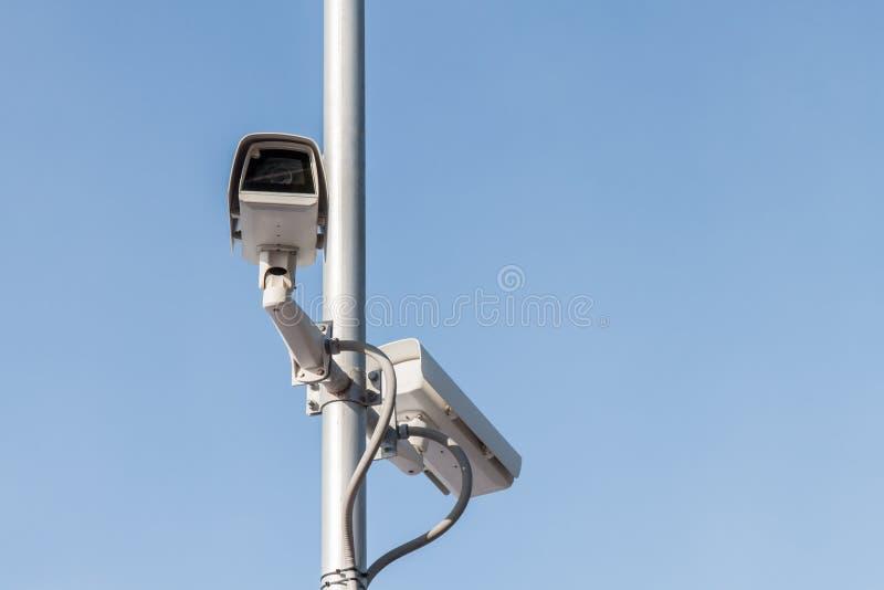 Säkerhetskamera eller CCTV royaltyfria foton