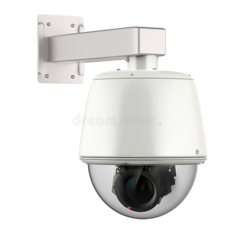 säkerhetskamera för tolkning 3d eller cctv-kamera stock illustrationer