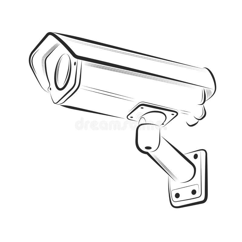 Säkerhetskamera på en vit bakgrund vektor illustrationer
