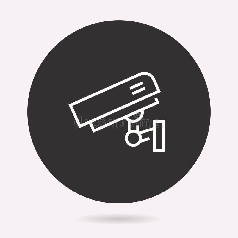 Säkerhetskamera - vektorsymbol Isolerad illustration enkel pictogram stock illustrationer