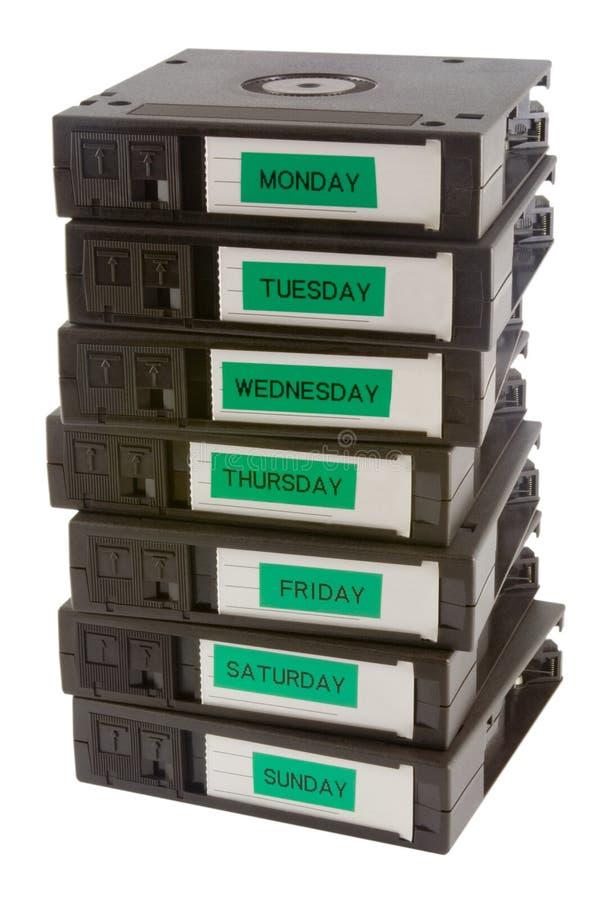säkerhetskopiaband arkivfoto