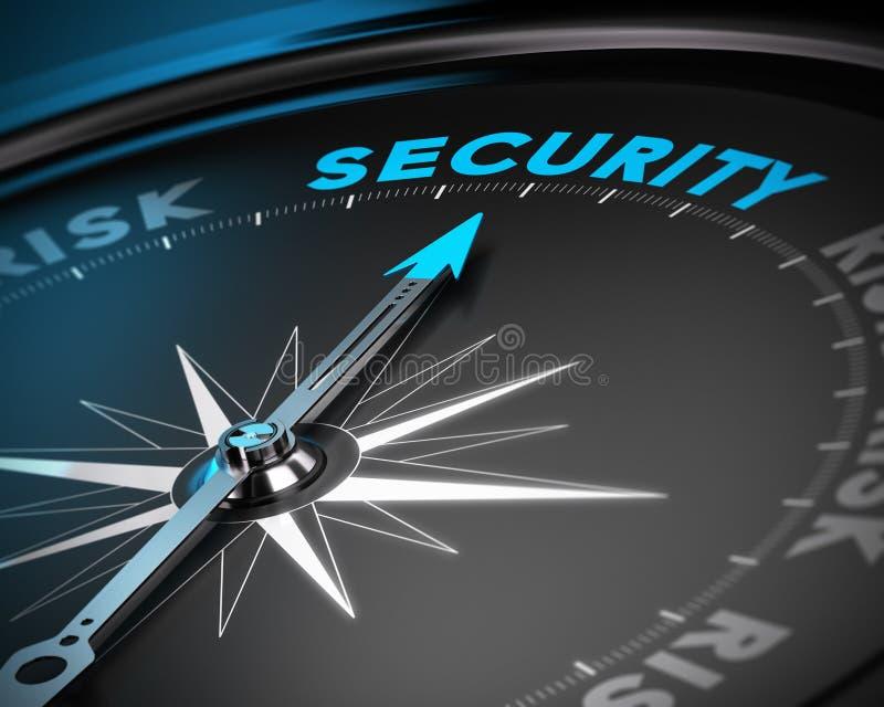 Säkerhetsledningbegrepp stock illustrationer