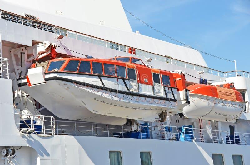 Säkerhetslifeboat royaltyfri foto