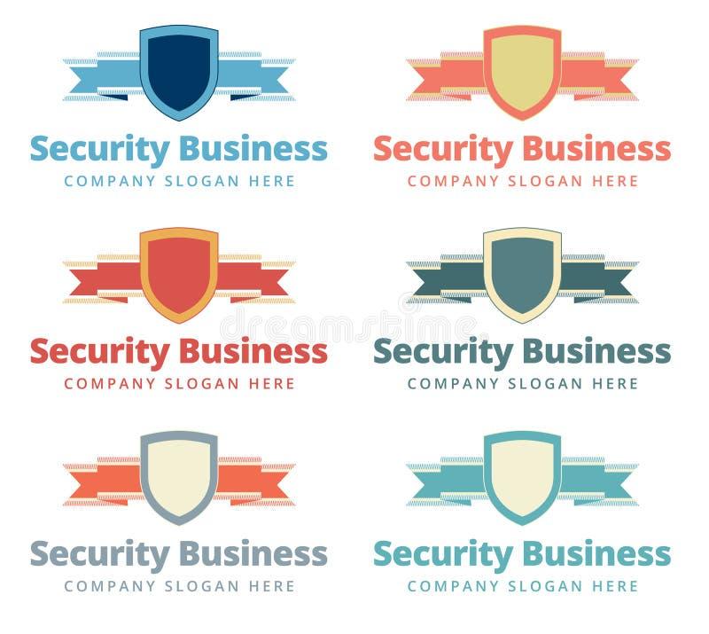 Säkerhetslogo royaltyfri illustrationer