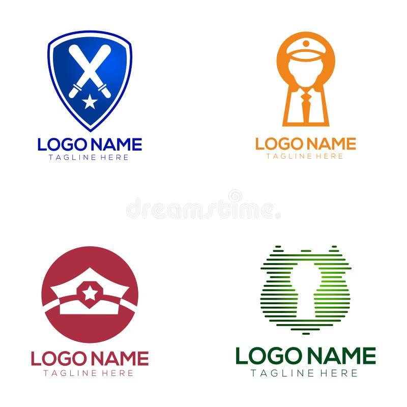 Säkerhetslogodesign och symbol vektor illustrationer