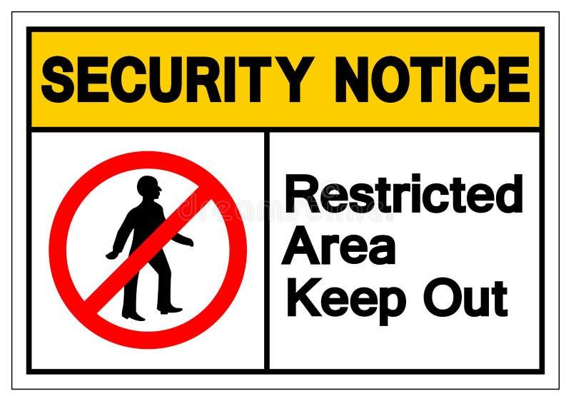 Säkerhetsmeddelandeskyddsområde håller ut meddelandesymboltecknet, vektorillustrationen, isolat på den vita bakgrundsetiketten EP stock illustrationer