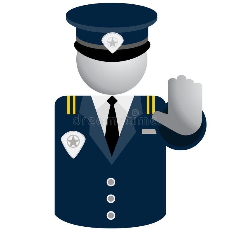 Säkerhetspolissymbol royaltyfri illustrationer