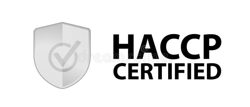 Säkerhetsskölden HACCP intygade - vektorillustrationen - isolerat på vit bakgrund vektor illustrationer