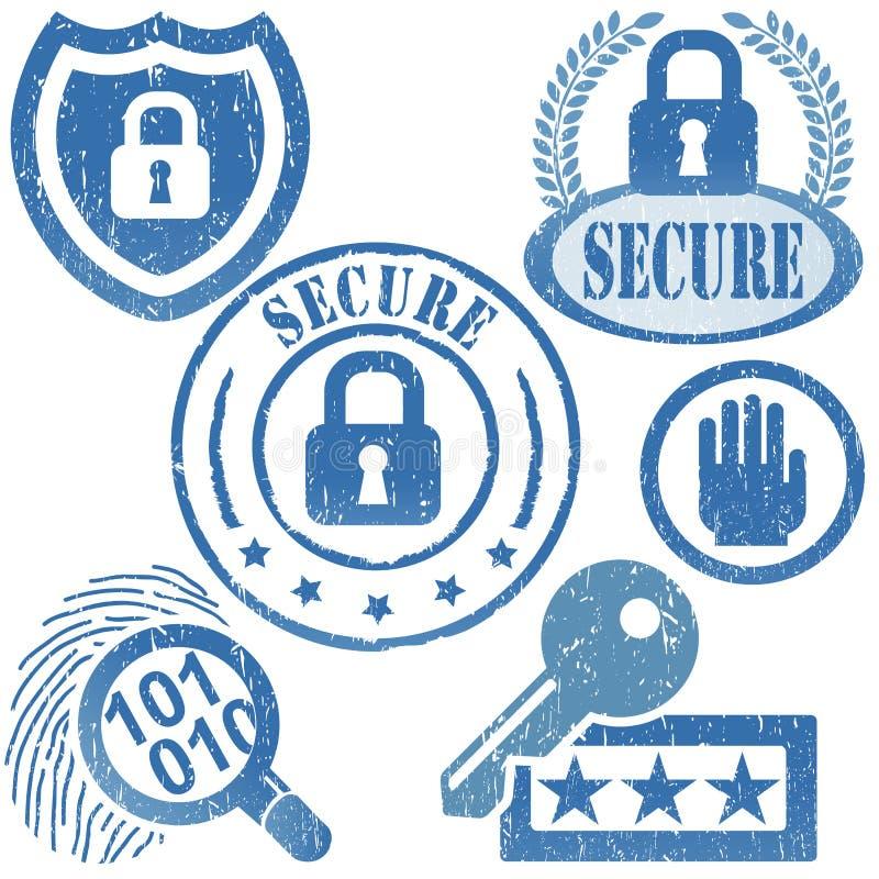 säkerhetssymbol royaltyfri illustrationer