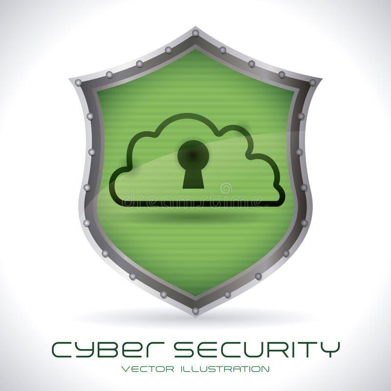 Säkerhetssystem stock illustrationer