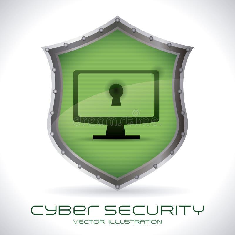 Säkerhetssystem vektor illustrationer