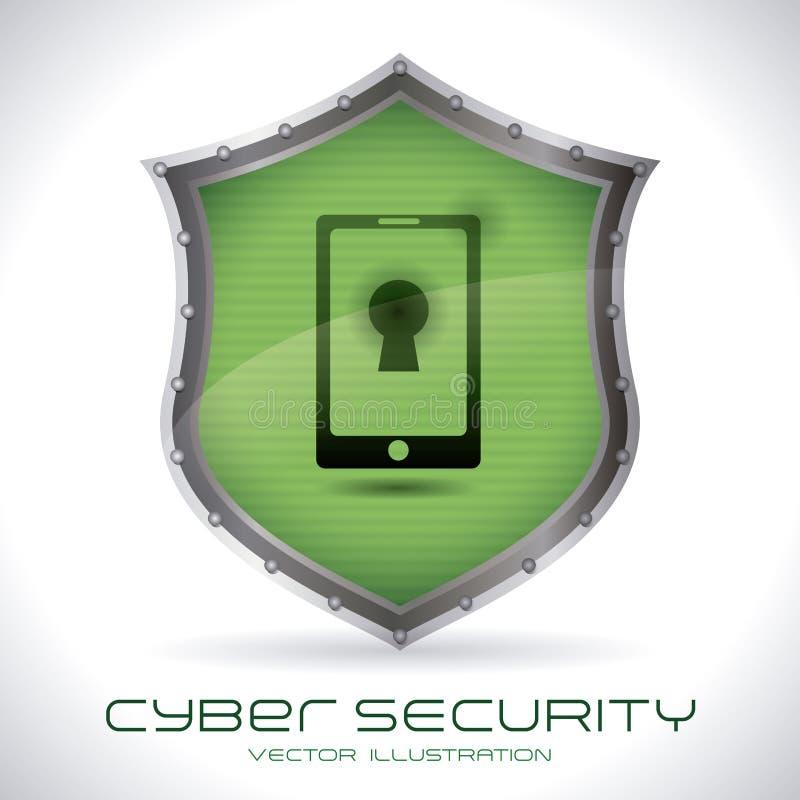 Säkerhetssystem royaltyfri illustrationer