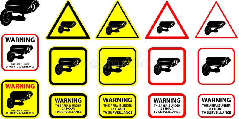 säkerhetsvektor för 2 kamera royaltyfri illustrationer