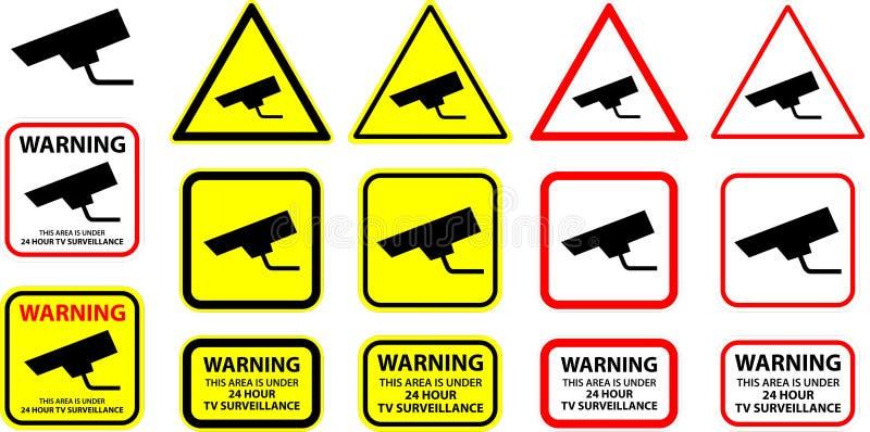 säkerhetsvektor för 8 kamera royaltyfri illustrationer