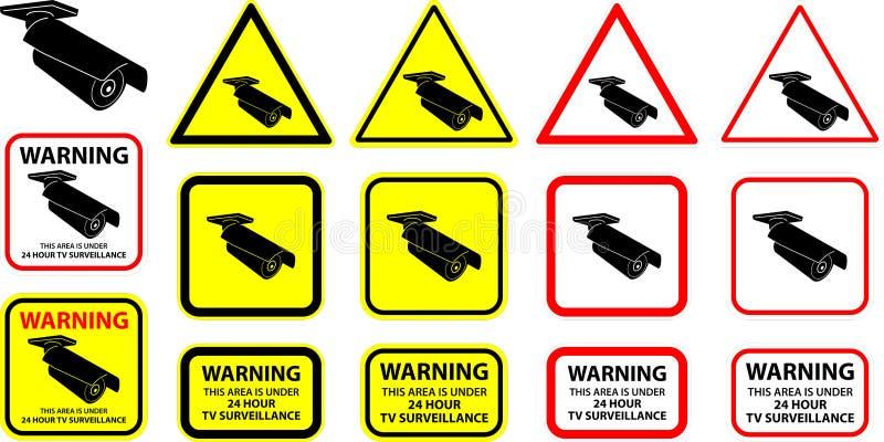 säkerhetsvektor för 9 kamera royaltyfri illustrationer