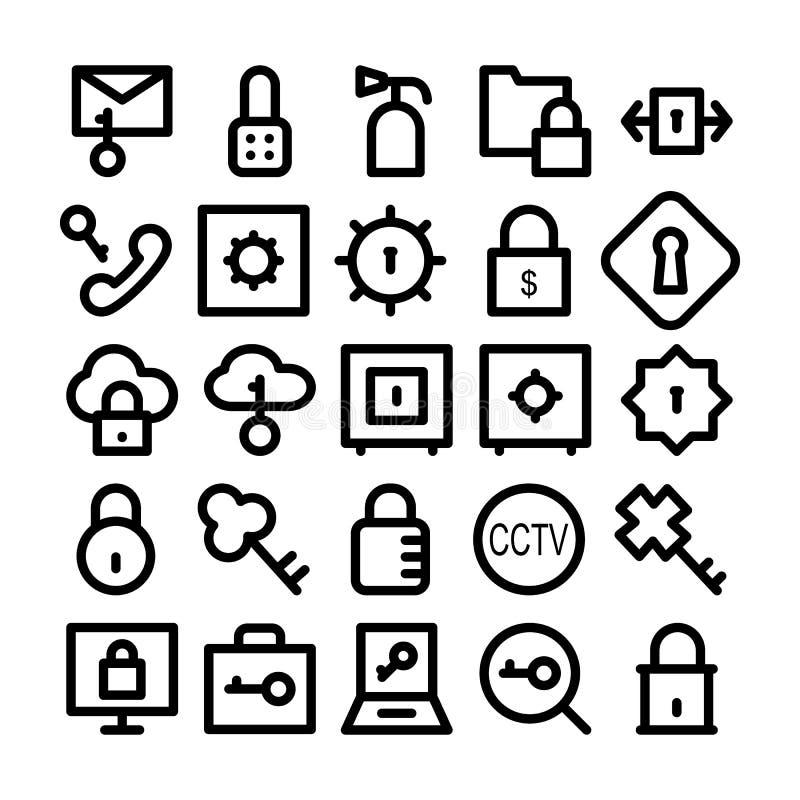 Säkerhetsvektorsymboler 2 vektor illustrationer