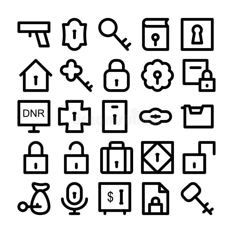 Säkerhetsvektorsymboler 1 royaltyfri illustrationer