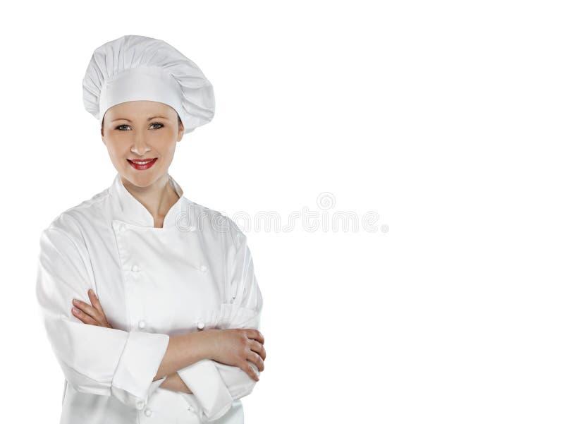 säkert kvinnligbarn för kock royaltyfri foto