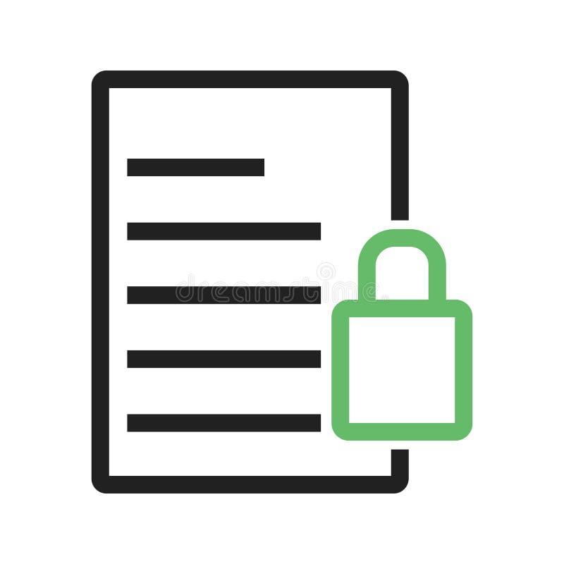 Download Säkra dokumentet vektor illustrationer. Illustration av design - 78731337