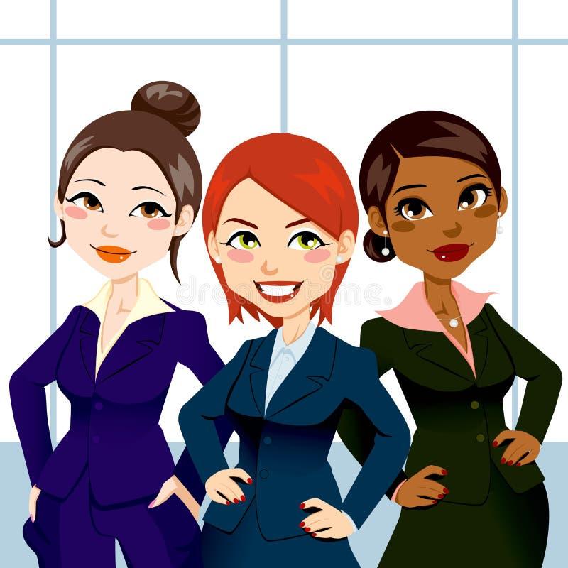 säkra kvinnor för affär stock illustrationer
