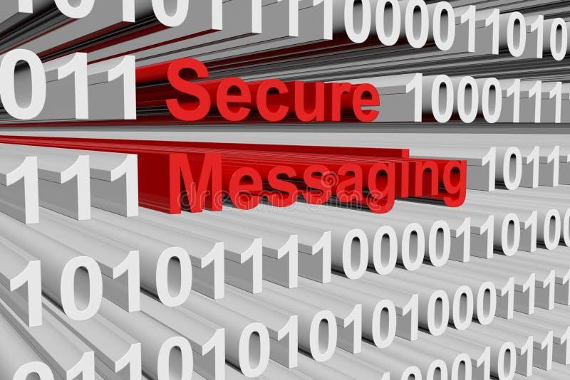 Säkra messaging stock illustrationer