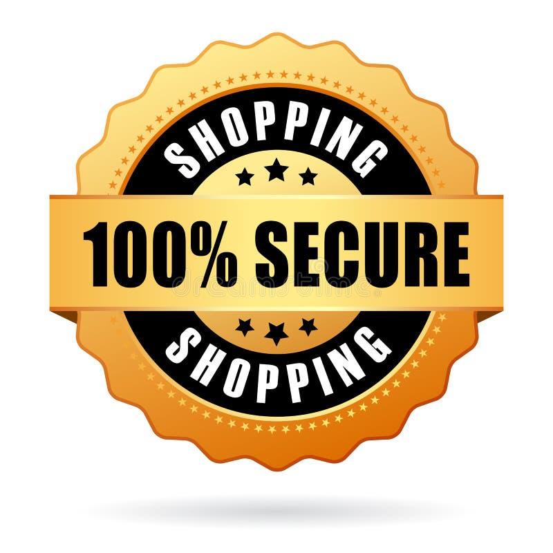 säkra shopping royaltyfri illustrationer