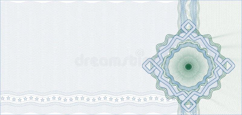 Säkrad Guillochebakgrund för certifikat stock illustrationer