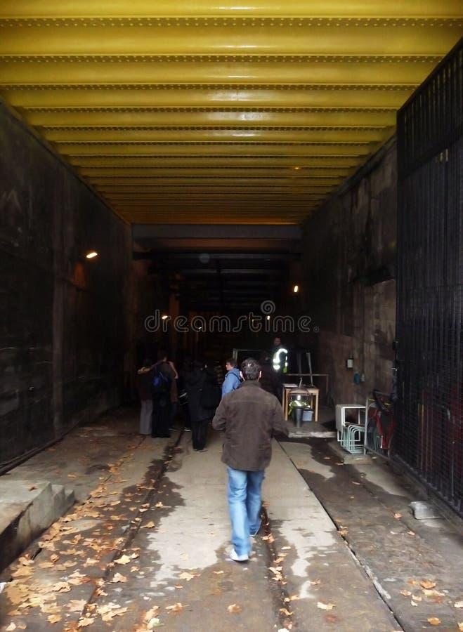 sällan stationsspårvagn för disused kingsway öppning fotografering för bildbyråer