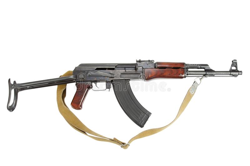 Sällsynt första modell AK - gevär för anfall som 47 isoleras på vit arkivbild