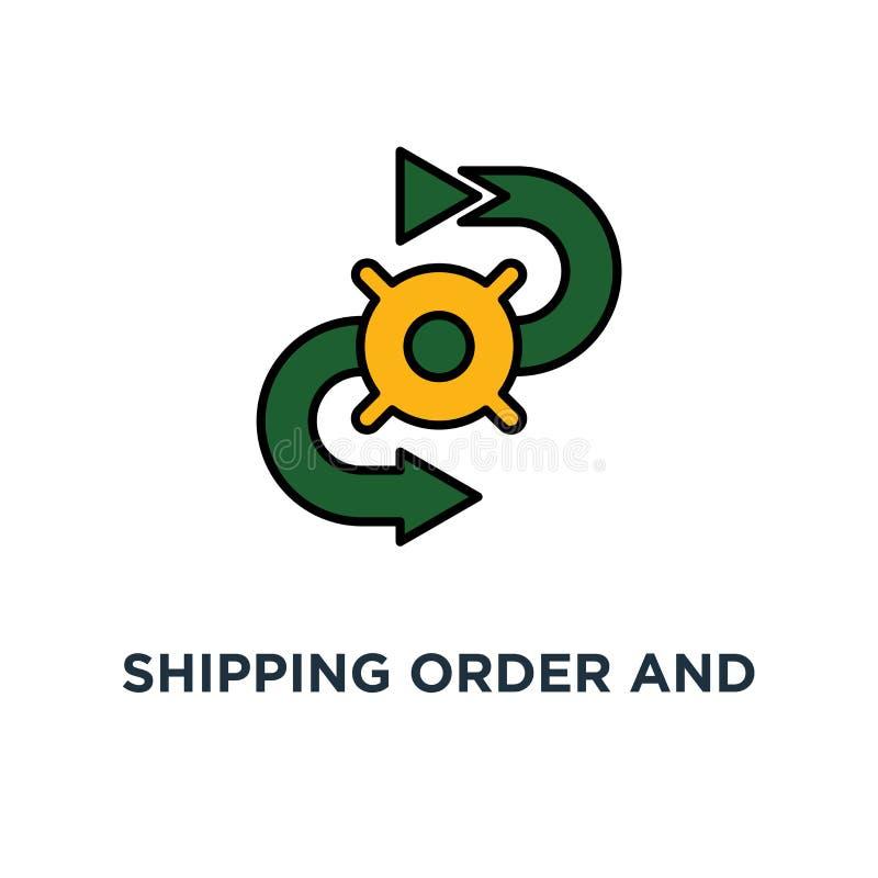 sändande symbol för service för beställnings- och leveransspårningsystem design för förflyttningsbegreppssymbol, beståndsdelar fö royaltyfri illustrationer