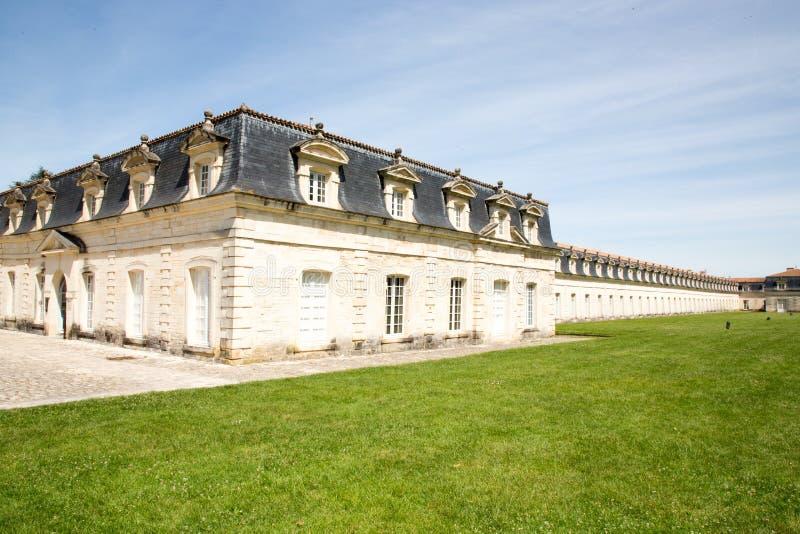 Sänder byggda, beväpnade och underhållna många för den Rochefort arsenalen den höga rangkungliga personen Corderie Royale royaltyfri foto