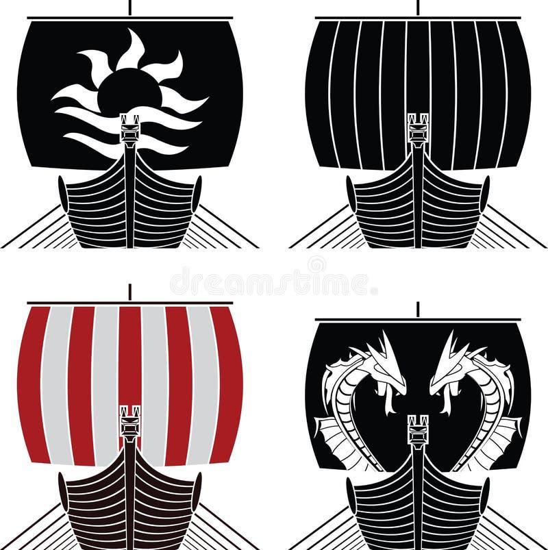 sänder viking royaltyfri illustrationer