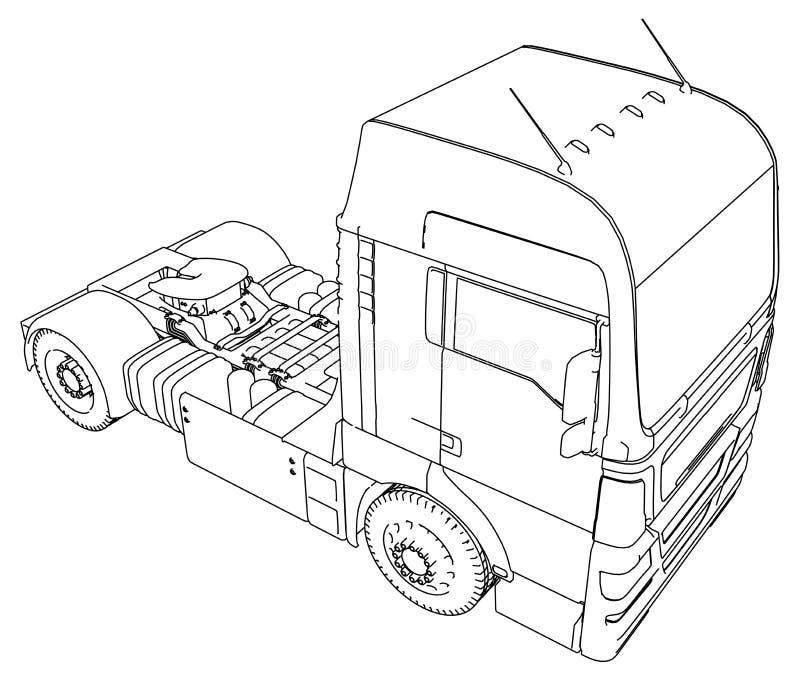Sändningsbransch, logistiktrans. och begreppet för industriell affär för lastfrakttransport det kommersiella binder royaltyfri illustrationer