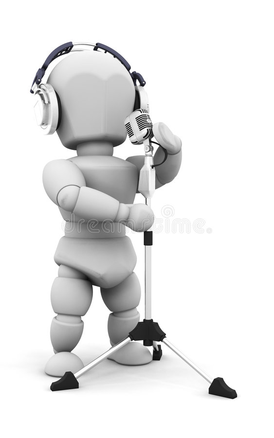 Sänger lizenzfreie abbildung