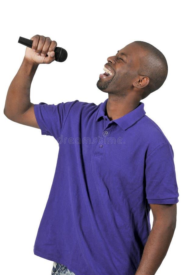 Sänger des gutaussehenden Mannes lizenzfreie stockfotos