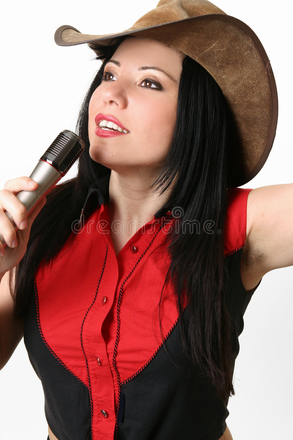 Sänger, Hauptrechner, Vorführer lizenzfreies stockbild