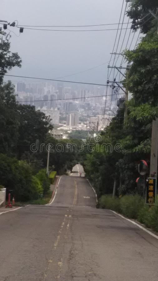 Säregen väg, Taichung stad, Taiwan royaltyfri bild