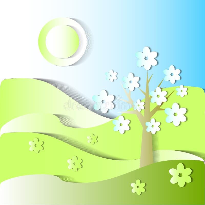 säsongen är våren Stiliserad bild stock illustrationer
