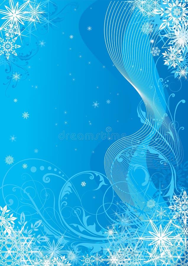 Säsongsbetonad blå bakgrund vektor illustrationer