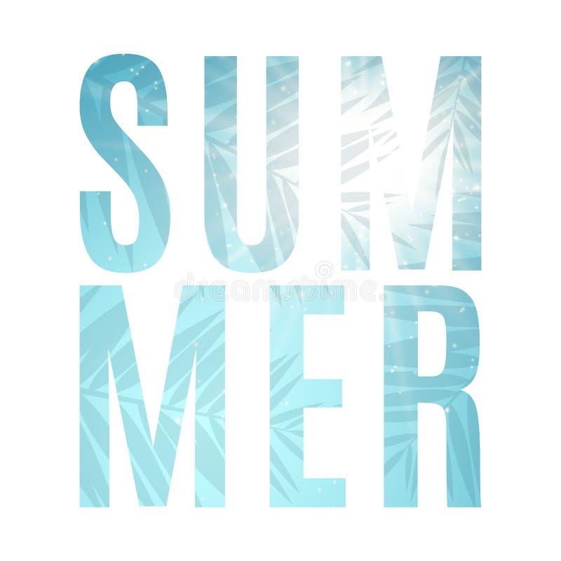 Säsongsbetonad sommarbakgrund abstrakt vektor för banerillustrationtext låter vara palmträdet vändkretsar Ljusa strålar av solen  vektor illustrationer
