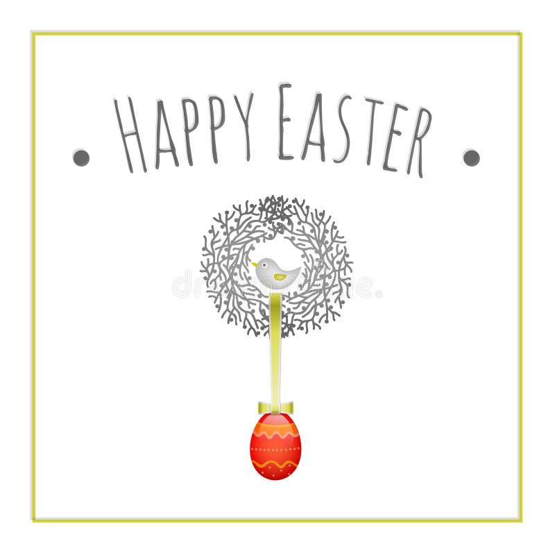 Dekorativ påskkran stock illustrationer