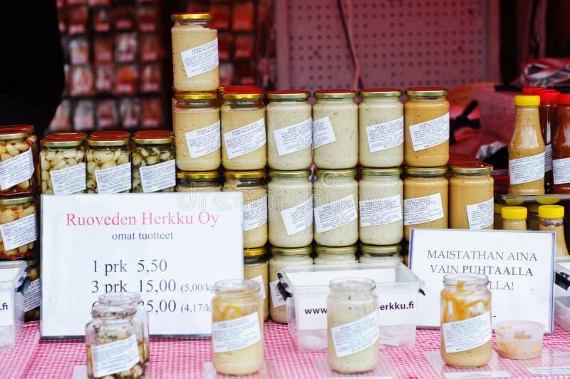 Säsongsbetonade produkter på rea arkivfoto